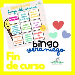 Recurso Bingo de recomendaciones veraniegas Sandra Alguacil